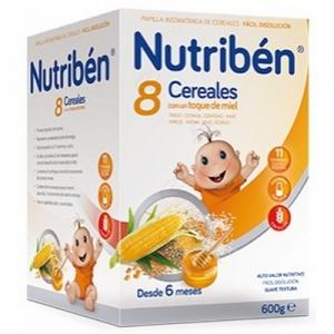 NUTRIBEN 8 CEREALES Y MIEL 600GR