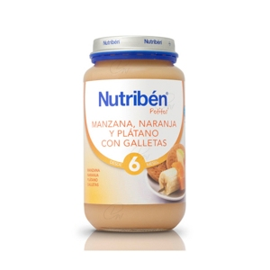NUTRIBEN 250 GR MANZANA, NARANJA, PLÁTANO Y GALLETA