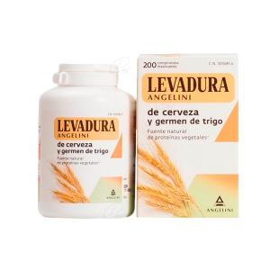 LEVADURA DE CERVEZA Y GERMEN TRIGO ANGELINI 200 COMP